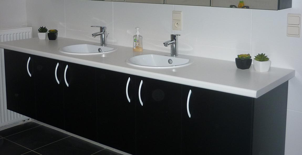 Badkamers door schrijnwerkerij Leukemans